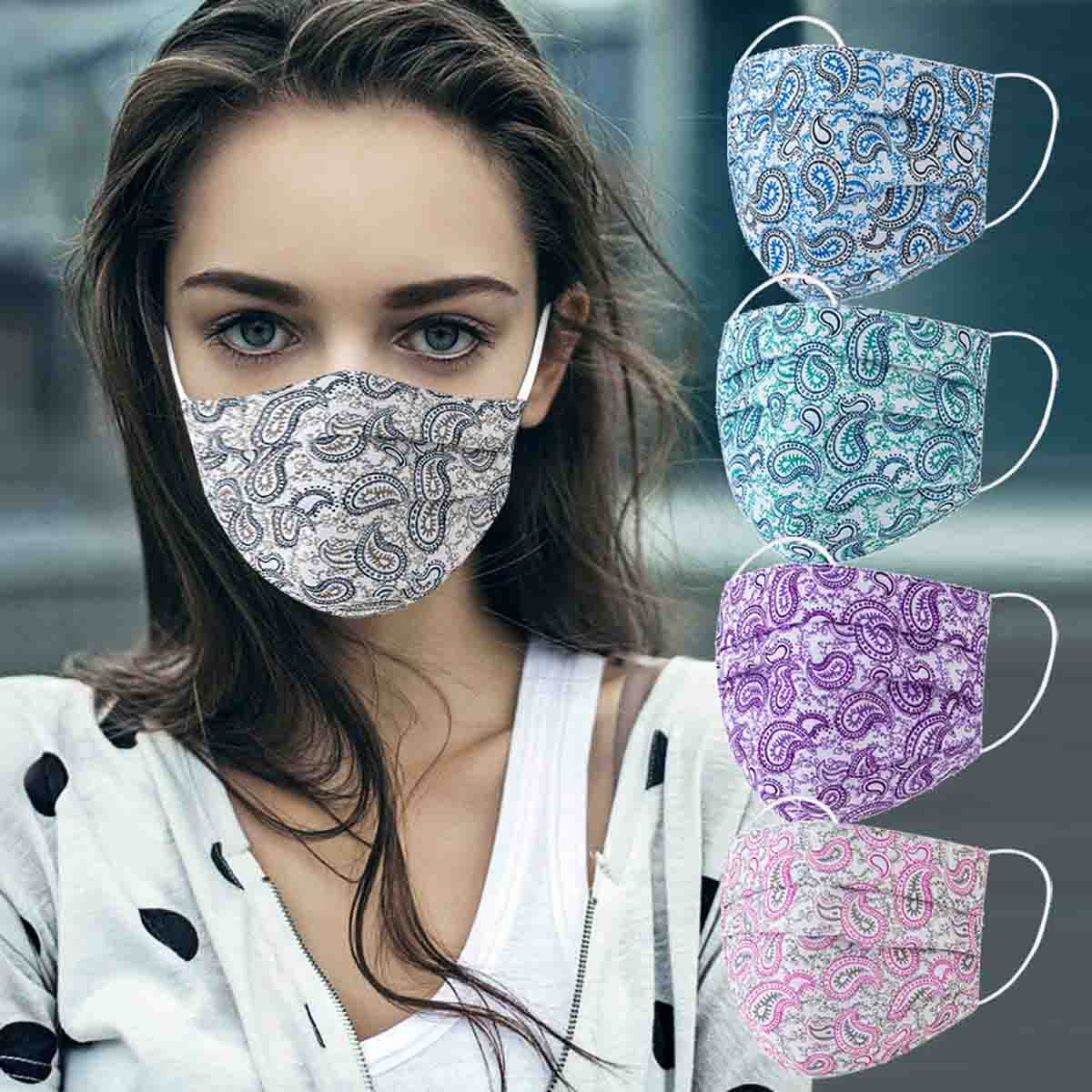 mascarilla de tela aliexpress estampado de colores